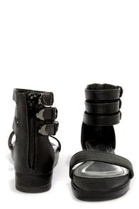 Bamboo Formula 04 Black Triple Ankle Strap Flatform Sandals at Lulus.com!