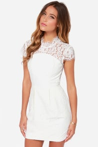 Keepsake Run the World Ivory Lace Dress at Lulus.com!