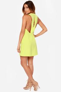 Keepsake Countdown Chartreuse Yellow Tank Dress at Lulus.com!