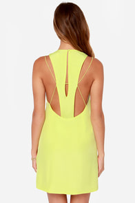Keepsake Countdown Chartreuse Yellow Tank Dress at Lulus.com!