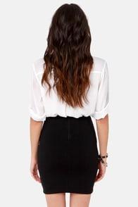 High Roller High-Waisted Black Mini Skirt at Lulus.com!