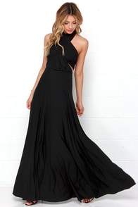 Tricks of the Trade Black Maxi Dress