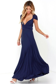 Tricks of the Trade Navy Blue Maxi Dress at Lulus.com!