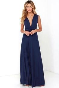 Tricks of the Trade Navy Blue Maxi Dress