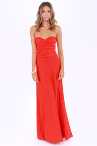 Tricks of the Trade Red Orange Maxi Dress at Lulus.com!