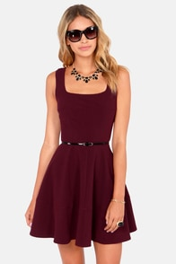 Home Before Daylight Burgundy Dress at Lulus.com!