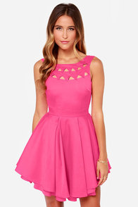 Flirting With Danger Cutout Fuchsia Dress at Lulus.com!