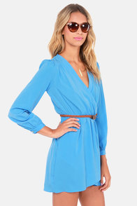 That's a Wrap Sky Blue Long Sleeve Dress at Lulus.com!
