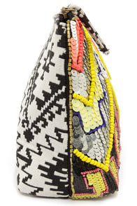 Technicolor Dreams Multi Sequin Clutch at Lulus.com!