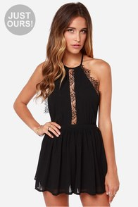 LULUS Exclusive The Best Halter-native Black Romper at Lulus.com!