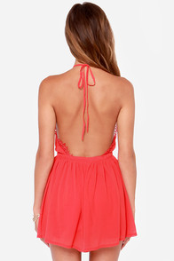 LULUS Exclusive The Best Halter-native Red Romper at Lulus.com!