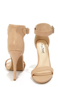 Anne Michelle Perton 17 Nude Single Strap Heels at Lulus.com!