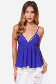 Shades of Cool Cobalt Blue Tank Top at Lulus.com!