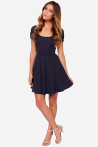 LULUS Exclusive Pretty Little Ditty Navy Blue Dress at Lulus.com!