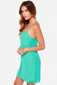 LULUS Exclusive Destined for Greatness Sea Green Dress at Lulus.com!
