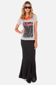 Lucy Love Mermaid Black Maxi Skirt at Lulus.com!