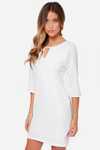 Key to My Heart Ivory Shift Dress at Lulus.com!