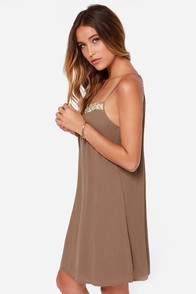 Spice Capades Beaded Brown Dress at Lulus.com!
