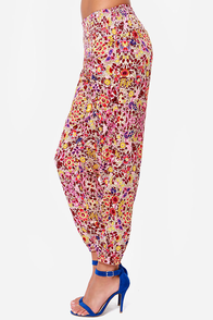 Billabong Midnight Strollz Floral Print Harem Pants at Lulus.com!