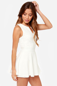 LULUS Exclusive Prep Rally White Romper at Lulus.com!