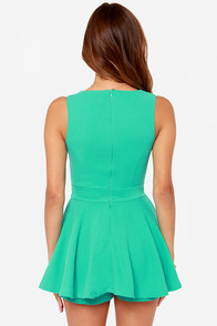 LULUS Exclusive Prep Rally Sea Green Romper at Lulus.com!