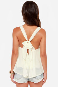 LULUS Exclusive Out All Night Ivory Tank Top at Lulus.com!