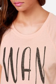 Billabong Wanderin Breeze Blush Muscle Tee at Lulus.com!