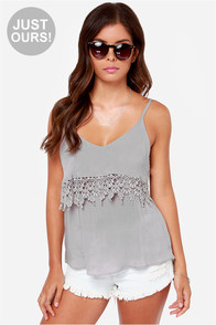 LULUS Exclusive From Tier to There Grey Tank Top at Lulus.com!