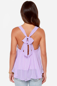 LULUS Exclusive Out All Night Lavender Tank Top at Lulus.com!