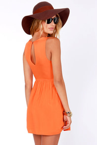 Mimi Chica Isn't She Sweet Orange Dress at Lulus.com!