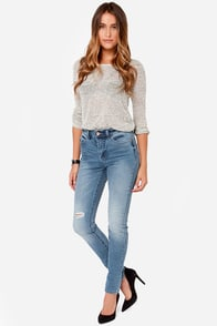 Billabong Night Hawks Distressed Skinny Jeans