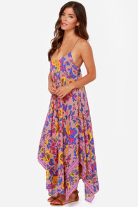 Billabong Mystic Pearl Blush Print Maxi Dress at Lulus.com!
