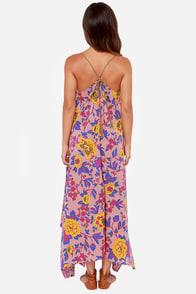 Billabong Mystic Pearl Blush Print Maxi Dress at Lulus.com!