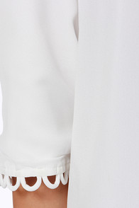 LULUS Exclusive Feeling Loopy Ivory Shift Dress at Lulus.com!
