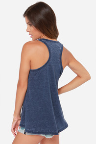 Tank You Very Much Denim Blue Tank Top at Lulus.com!