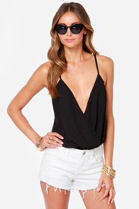 Showstopper Backless Black Bodysuit at Lulus.com!