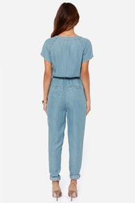 Dittos Sela Blue Denim Jumpsuit at Lulus.com!