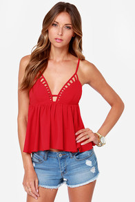 LULUS Exclusive Instant Gratification Red Tank Top at Lulus.com!