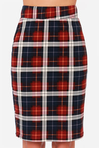 JOA Clash of the Tartans Plaid Midi Skirt at Lulus.com!