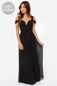 LULUS Exclusive Dreamed to Life Black Maxi Dress at Lulus.com!