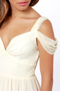 LULUS Exclusive Dreamed to Life Cream Maxi Dress at Lulus.com!