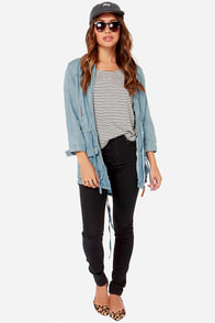 Dittos Willow Light Blue Anorak Jacket at Lulus.com!