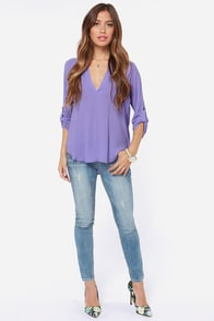 V-sionary Lavender Top at Lulus.com!