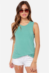 LULUS Exclusive Twisted Sister Seafoam Tank Top at Lulus.com!