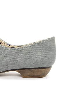 Restricted Liberty Grey Denim Lace-Up Flats at Lulus.com!
