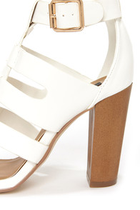 Dollhouse Heritage White Caged High Heel Sandals at Lulus.com!