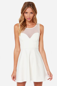 Bow Big Deal Ivory Dress at Lulus.com!