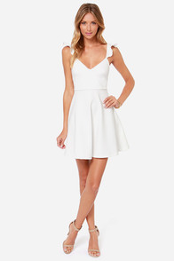 Leave a Light On Ivory Dress at Lulus.com!