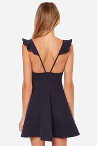 Leave a Light On Navy Blue Dress at Lulus.com!