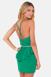 Dance Till Dawn Teal Peplum Dress at Lulus.com!
